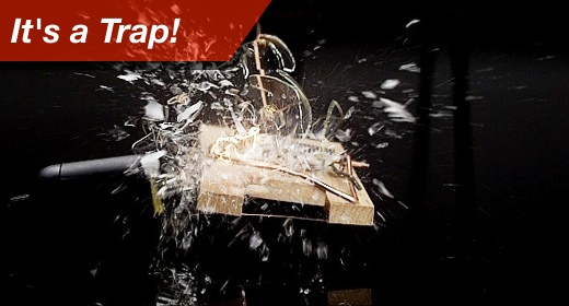 beautiful highspeed footage it is a trap destroyed by a trap filmed with 2000 fps in full HD